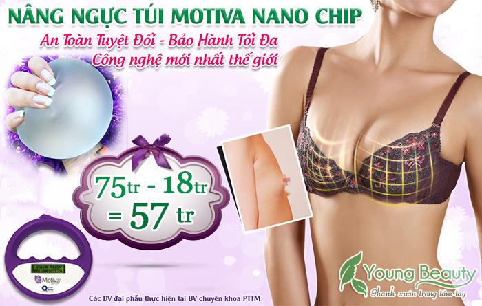nâng ngực nano chip đẹp an toàn